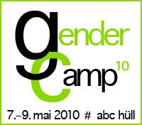 Logo des Gender Camps 2010 vom 7.-9 mai 2010 im abc hüll