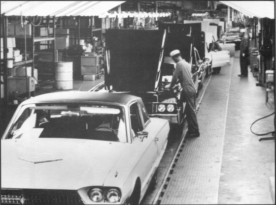 Thunderbird assembly line